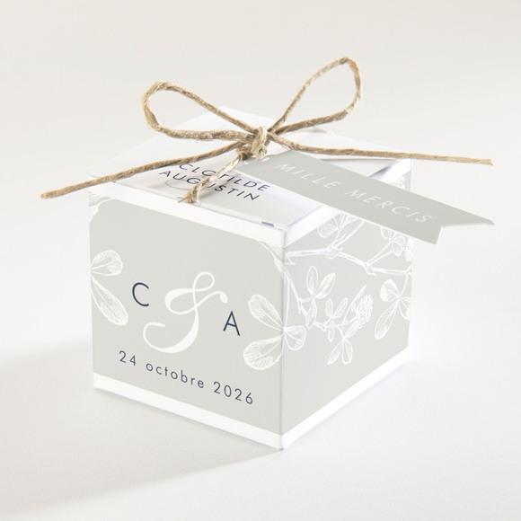 Boîte de dragées mariage Esperluette réf.N340150