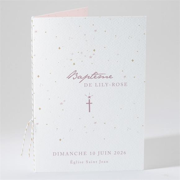 Livret de messe baptême Simple design réf.N49184