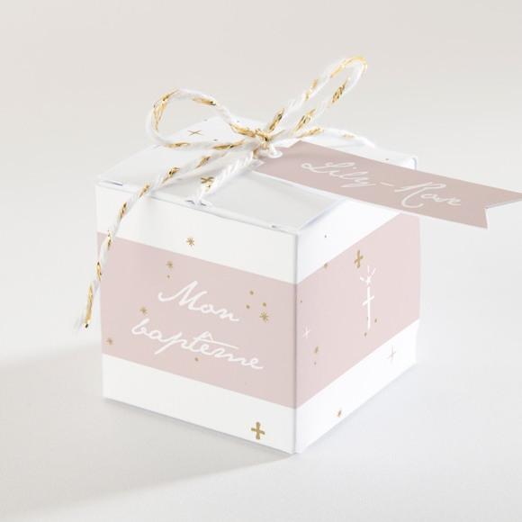 Boîte de dragées baptême Simple design réf.N340151
