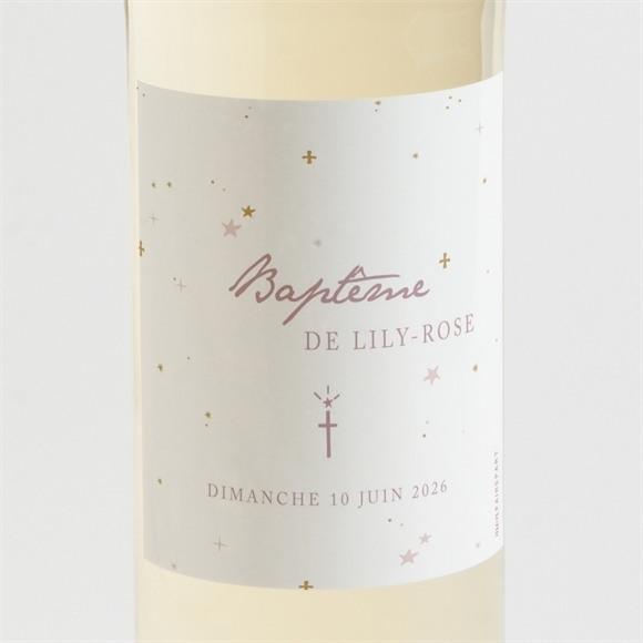 Etiquette de bouteille baptême Simple design réf.N3001506