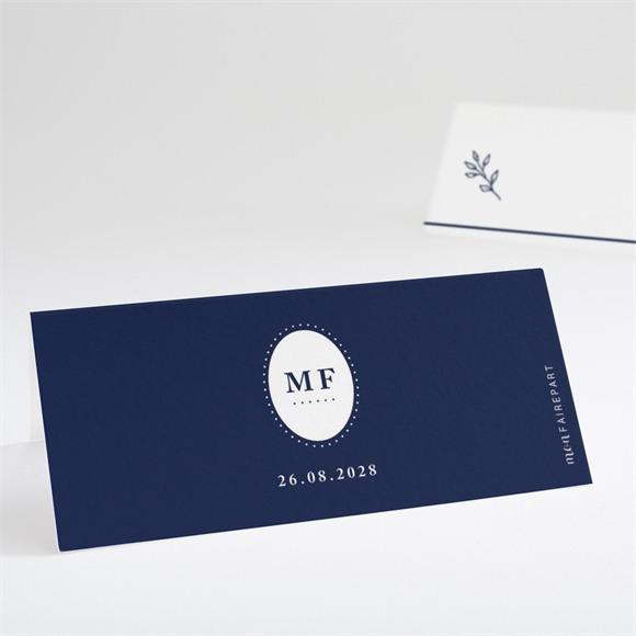 Marque-place mariage Bleu romantique réf.N440692