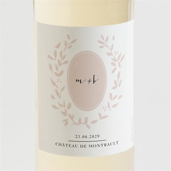 Etiquette de bouteille mariage Médaillon réf.N3001511