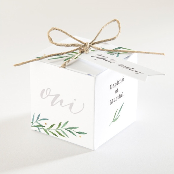 Boîte de dragées mariage Oui ! réf.N340157