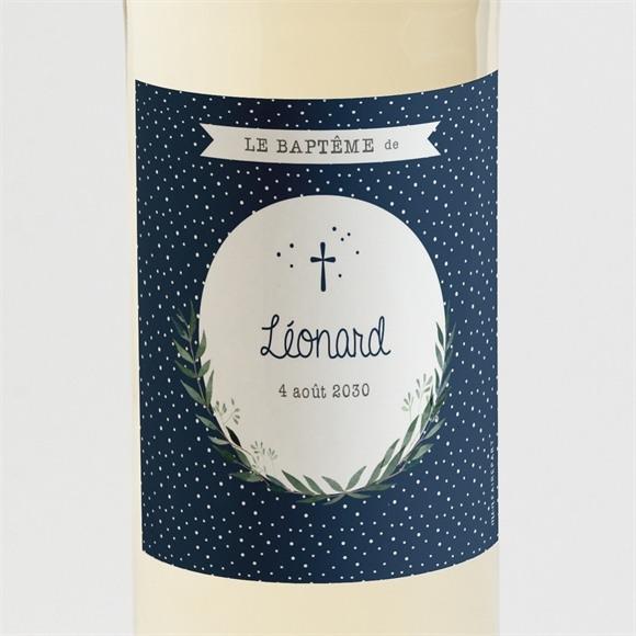 Etiquette de bouteille baptême Motifs et autres pois réf.N3001514
