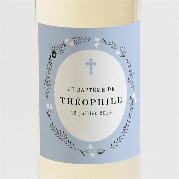 Etiquette de bouteille baptême Annonce en relief réf.N3001520