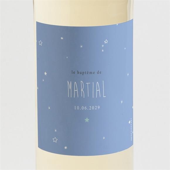 Etiquette de bouteille baptême Cadre et motifs réf.N3001522