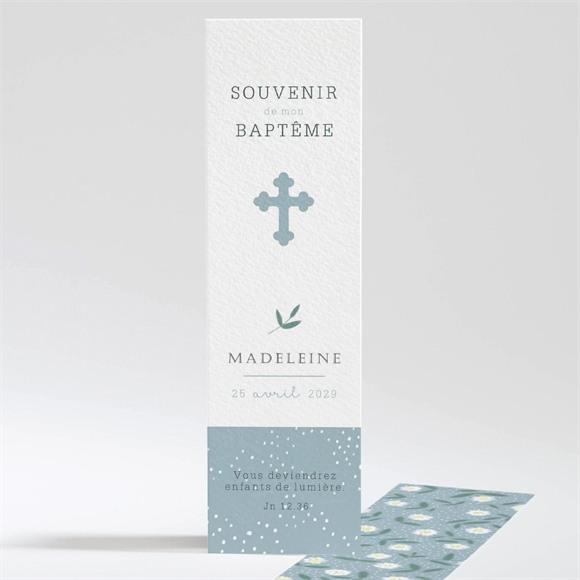 Signet baptême Cadre végétal réf.N20143