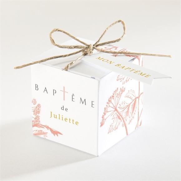 Boîte de dragées baptême Gravure gaufrée réf.N340170