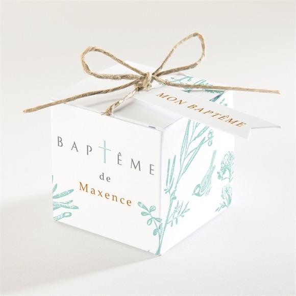 Boîte de dragées baptême Gravure en rond réf.N340171