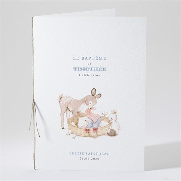 Livret de messe baptême Illustration animaux réf.N491102