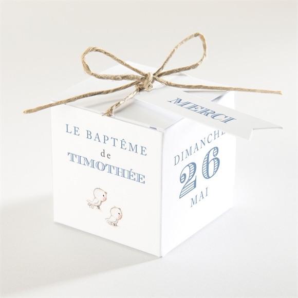 Boîte de dragées baptême Illustration animaux réf.N340175