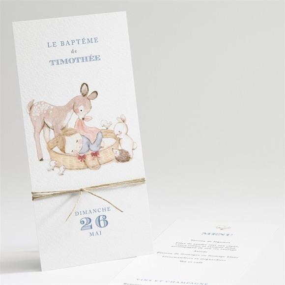 Menu baptême Illustration animaux réf.N22185