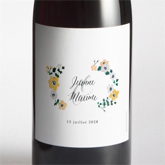 Etiquette de bouteille mariage Oui en relief réf.N3001534