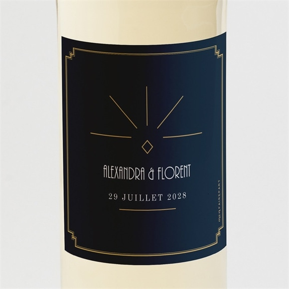 Etiquette de bouteille mariage Art déco réf.N3001535