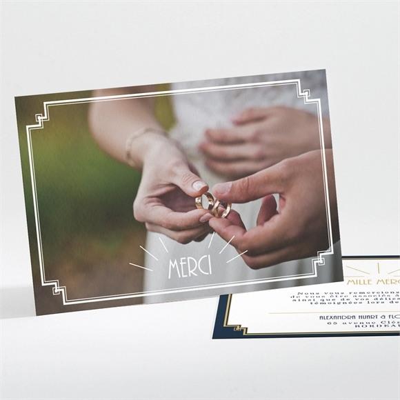 Remerciement mariage Art déco réf.N111246