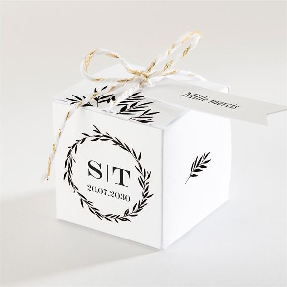 Boîte de dragées mariage Gravure secrète réf.N340180