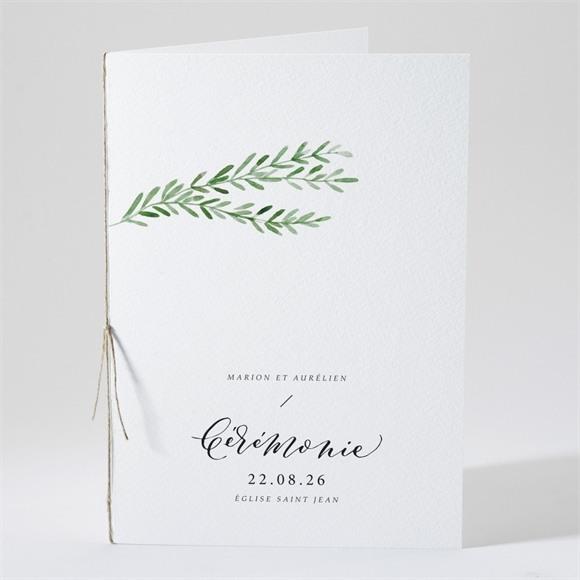 Livret de messe mariage Branche d'amour réf.N491107