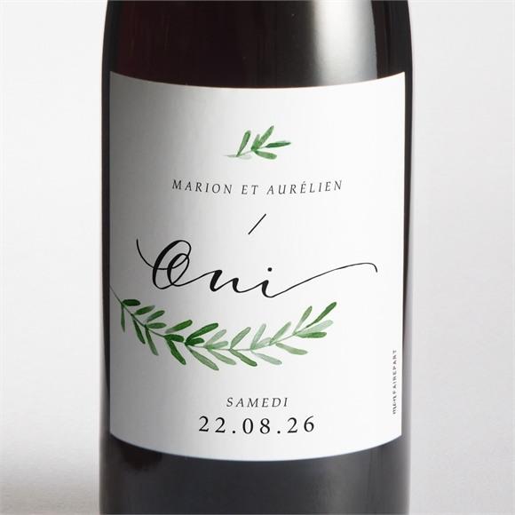 Etiquette de bouteille mariage Branche d'amour réf.N3001539