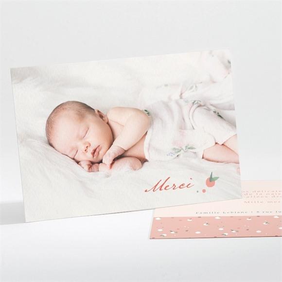 Remerciement naissance Enlacé réf.N111249