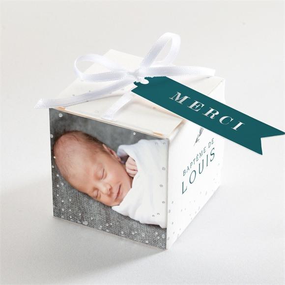 Boîte de dragées baptême Initiale argentée réf.N340185
