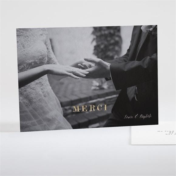 Remerciement mariage Dorure sur photo réf.N18101