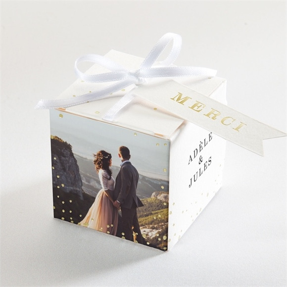 Boîte de dragées mariage Notre horizon réf.N340184