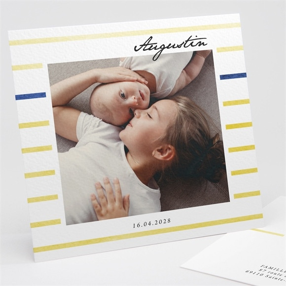 Faire-part naissance Rayures chics réf.N311238