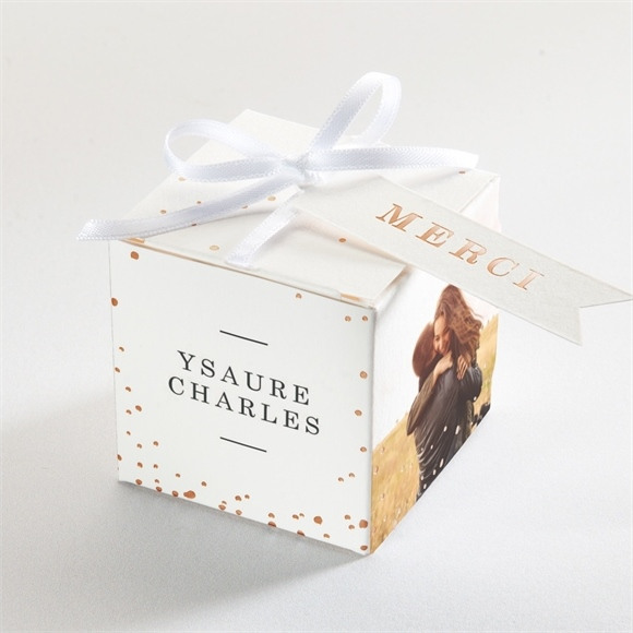 Boîte de dragées mariage Vous dire Merci réf.N340190