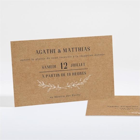Carton d'invitation mariage Kraft champêtre réf.N16138