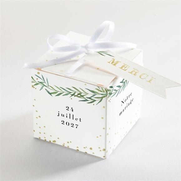 Boîte de dragées mariage Oui ! dorure réf.N340196