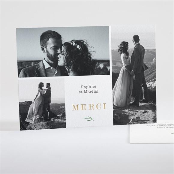 Remerciement mariage Oui ! dorure réf.N18106