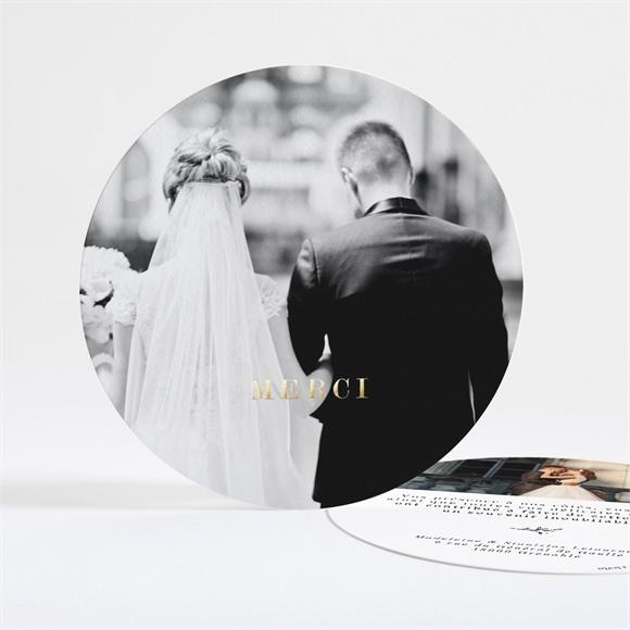 Remerciement mariage Douce harmonie dorure réf.N321124