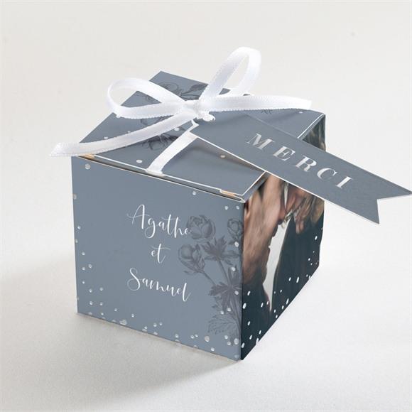 Boîte de dragées mariage Dorure sur gravure réf.N340200