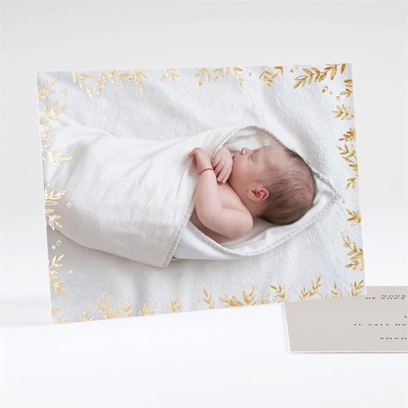 Faire-part naissance Feuillage chic réf.N18113