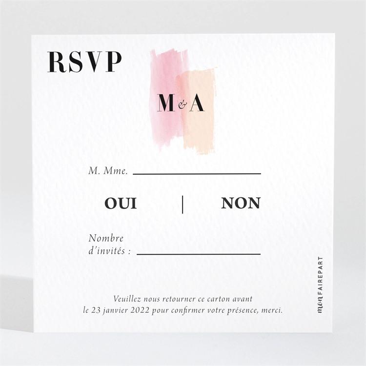 Carton réponse mariage Charmantes couleurs réf.N3001540