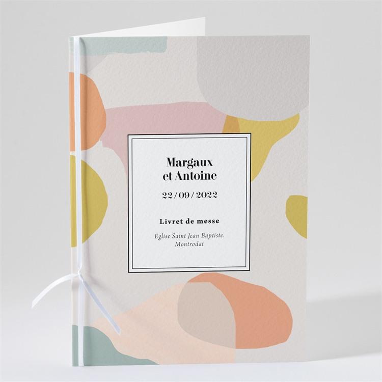 Livret de messe mariage Charmantes couleurs réf.N491108