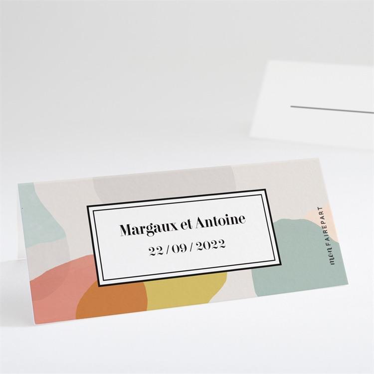 Marque-place mariage Charmantes couleurs réf.N440720