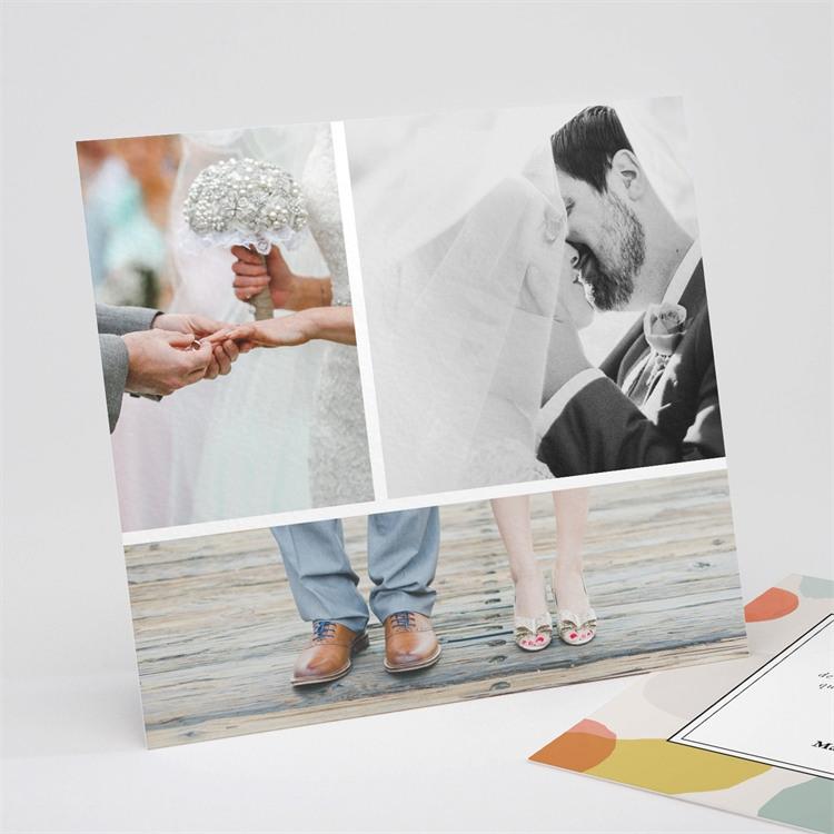 Remerciement mariage Charmantes couleurs réf.N311240