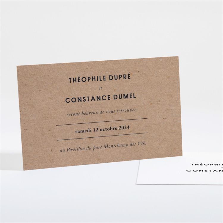Carton d'invitation mariage Précieux cadeau réf.N16140