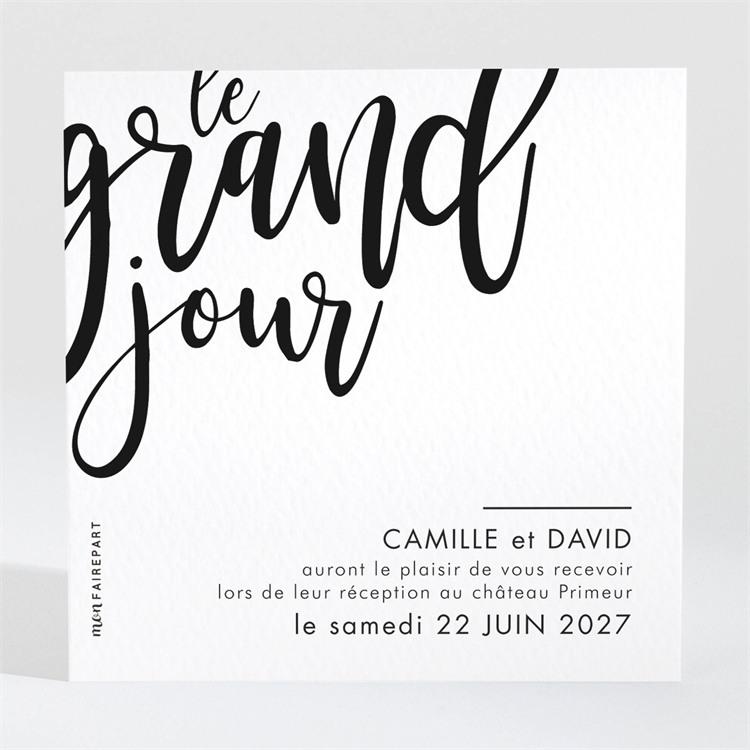 Carton d'invitation mariage Le Grand Jour réf.N3001542