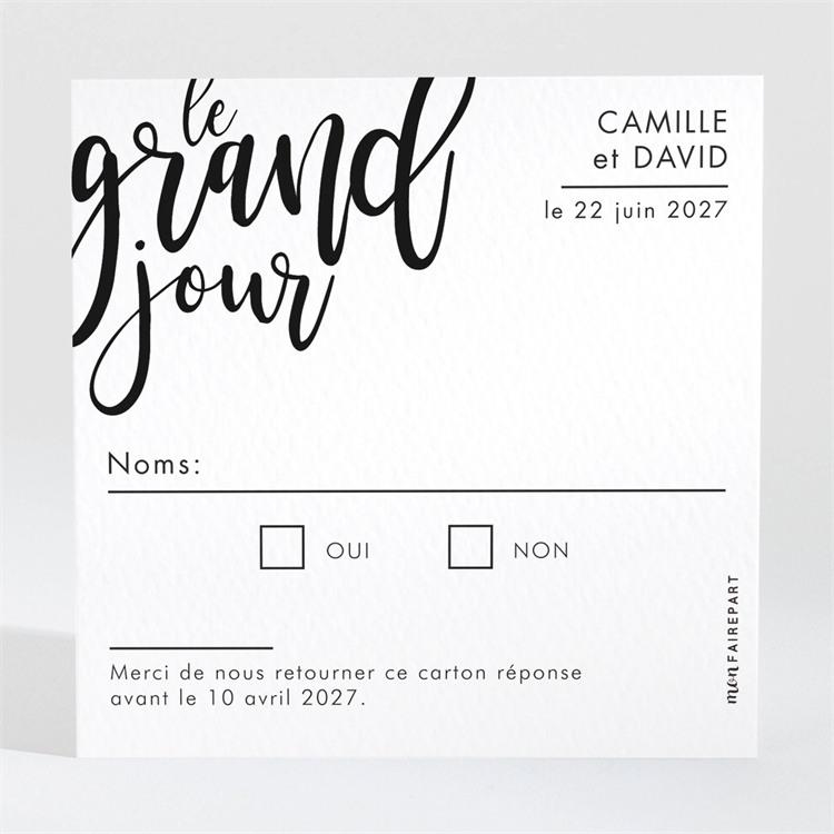 Carton réponse mariage Le Grand Jour réf.N3001543