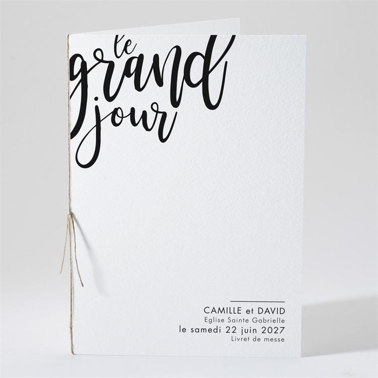 Livret de messe mariage Le Grand Jour réf.N491109