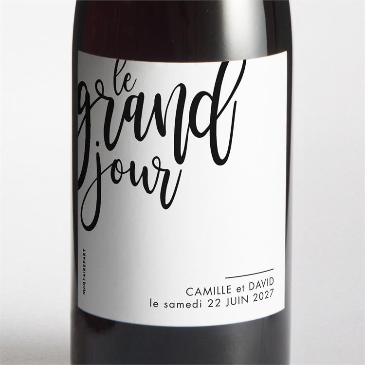 Etiquette de bouteille mariage Le Grand Jour réf.N3001544