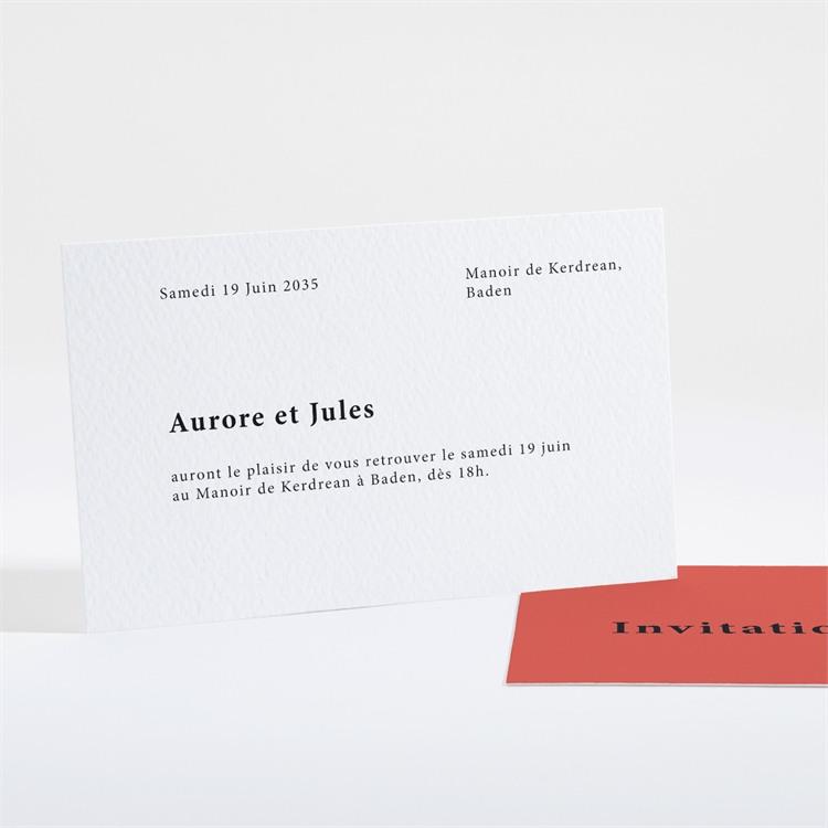 Carton d'invitation mariage Enlacés réf.N16144