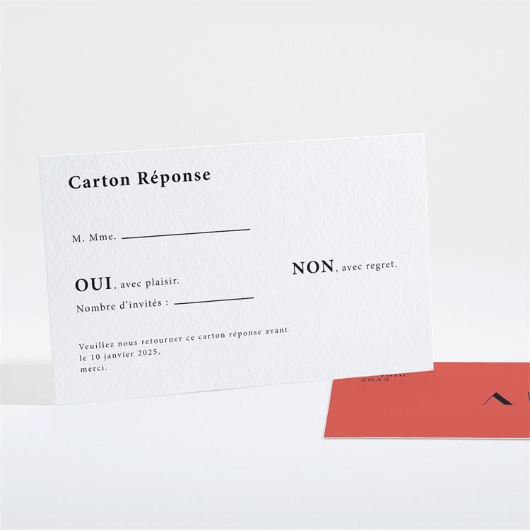 Carton réponse mariage Enlacés réf.N16145