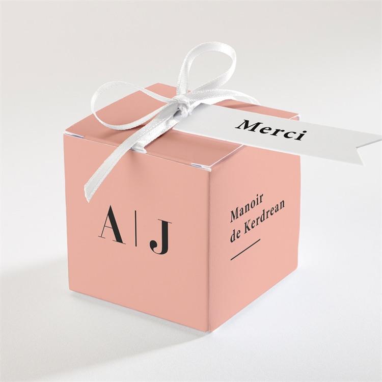 Boîte de dragées mariage Enlacés réf.N340205
