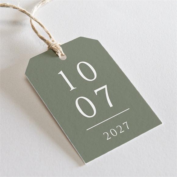Etiquette mariage Vert sauge réf.N29105
