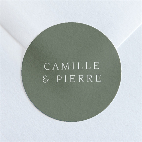 Sticker mariage Vert sauge réf.N36005