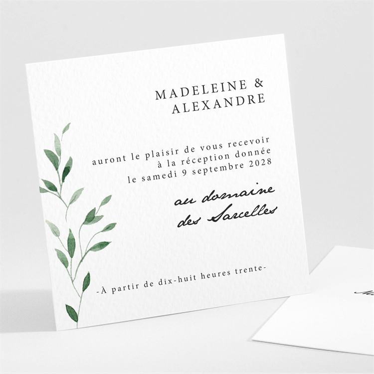 Carton d'invitation mariage A l'ombre de l'olivier réf.N30198