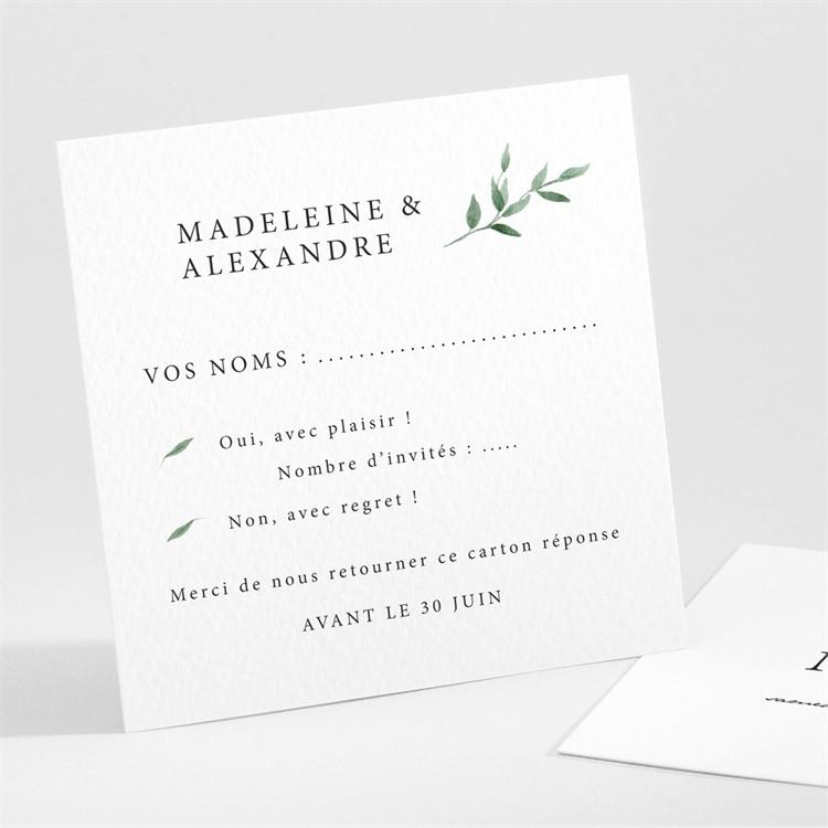 Carton réponse mariage A l'ombre de l'olivier réf.N30199